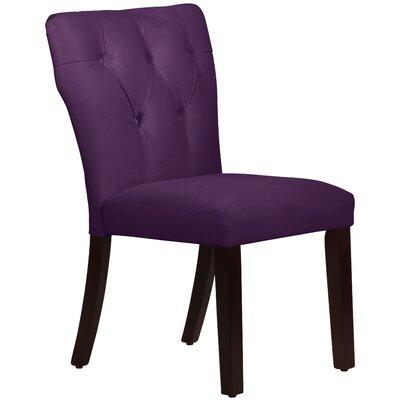 Skyline Furniture Velvet Tufted Hourglass Side Chair