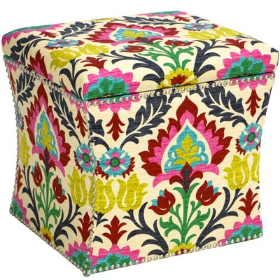 Bungalow Rose Castlereagh Nail Button Storage Ottoman