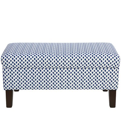 Mercury Row Abington Cotton Upholstered Storage Bedroom Bench