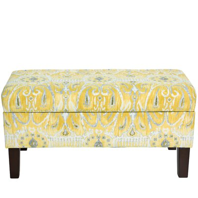 Bungalow Rose Normandie Cotton Upholstered Storage Bedroom Bench