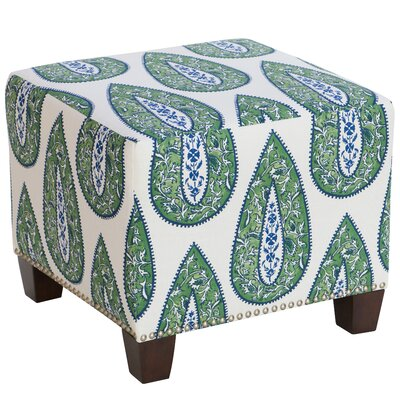 Bungalow Rose Mansour Square Nail Button Ottoman