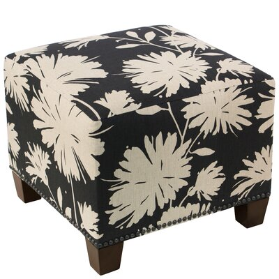 Red Barrel Studio Clowers Square Nail Button Ottoman