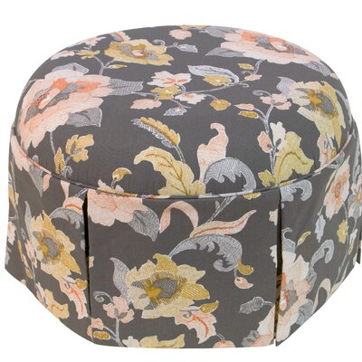 Skyline Furniture Aurora Round Skirted Ottoman