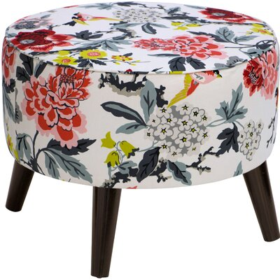 Latitude Run Avis Round Ottoman with Splayed Legs