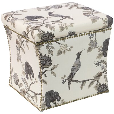 Darby Home Co Triplehorn Ink Nail Button Storage Ottoman