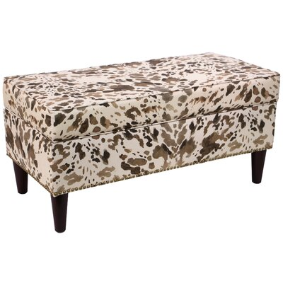 Loon Peak Fennimore Linen Upholstered Storage Bedroom Bench
