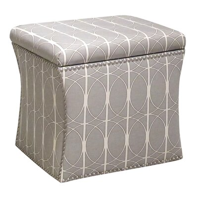 Skyline Furniture Nail Button Menton Storage Ottoman
