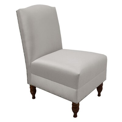 Skyline Furniture Nail Button Shantung Armless Chair