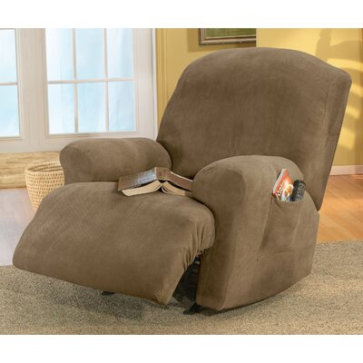 Sure Fit Stretch Pique Recliner T Cushion Slipcover