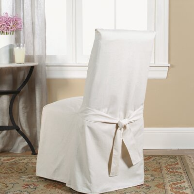 Sure Fit Cotton Duck Full Length Dining Room Chair Slipcover ...