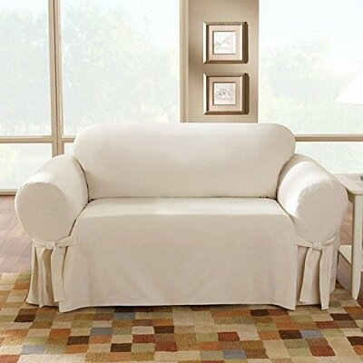 Sure Fit Cotton Duck Box Cushion Loveseat Slipcover Reviews
