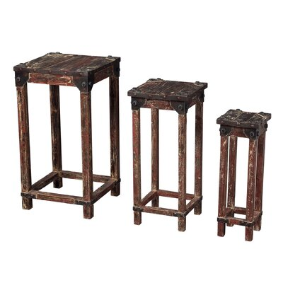 Loon Peak Lake City Stacking 3 Piece Table Set