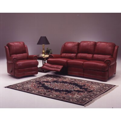 Omnia Leather Morgan Reclining Leather Living Room Set