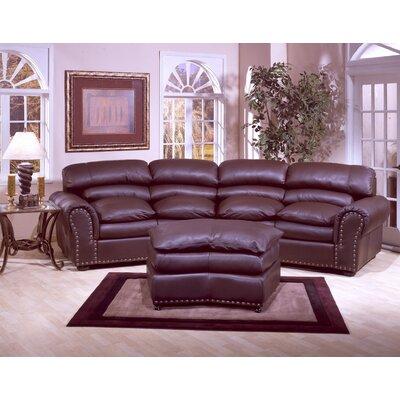 Omnia Leather Williamsburg Leather Sofa