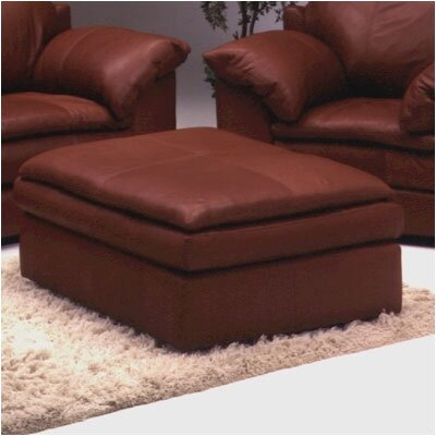 Omnia Leather Encino Leather Cocktail Ottoman