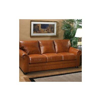 Omnia Leather Georgia Leather Sleeper Sofa