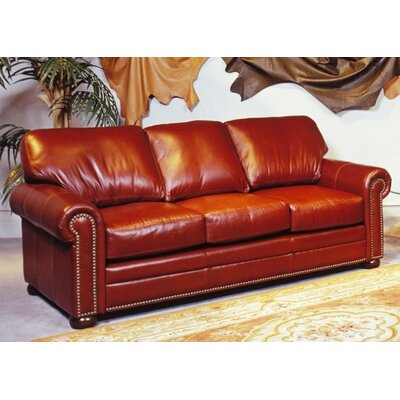Omnia Leather Savannah Leather Sleeper Sofa