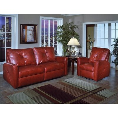 Omnia Leather Bahama Leather Reclining Loveseat