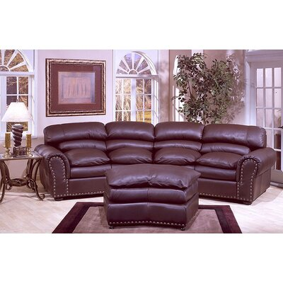 Omnia Leather Williamsburg Leather Sofa