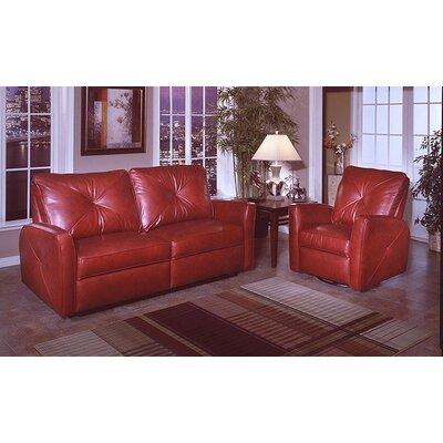 Omnia Leather Bahama Leather Living Room Set