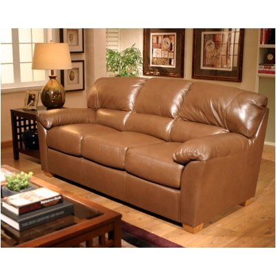 Omnia Leather Cedar Heights Leather Sleeper Sofa
