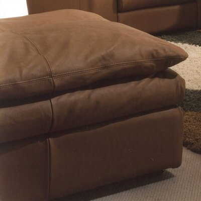 Omnia Leather Oregon Leather Jumbo Ottoman