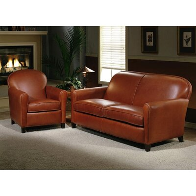 Omnia Leather Buenos Aires 2 Seat Leather Loveseat Set