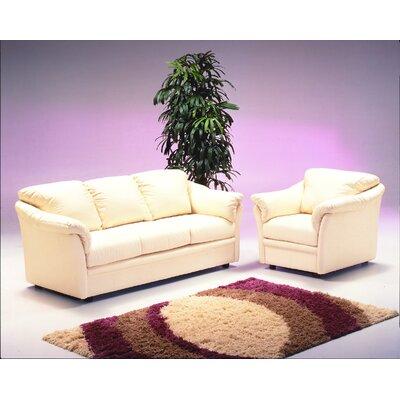 Omnia Leather Salerno 3 Seat Leather Living Room Set