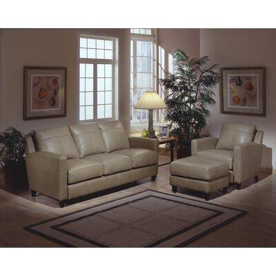 Omnia Leather Skyline 3 Seat Leather Sofa Set