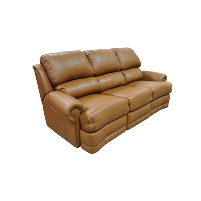 Omnia Leather Morgan Leather Reclining Sofa