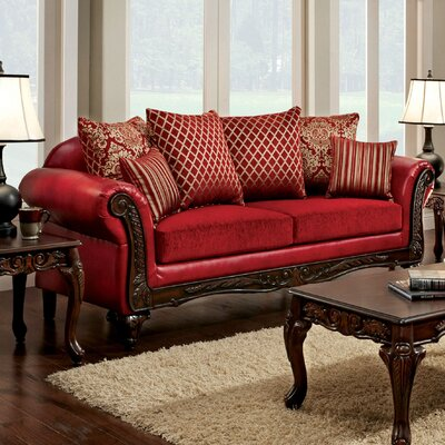 Astoria Grand Clayson Pillow Back Sofa