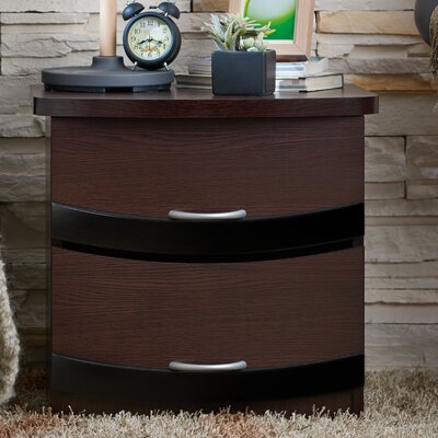 Charlton Home Duluth 2 Drawer Nightstand
