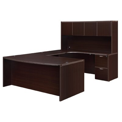 DMI Office Furniture Fairplex U-Shape Exec/Comp Desk with Hutch