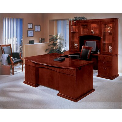 DMI Office Furniture Del Mar U-Shape Executive Desk with Hutch
