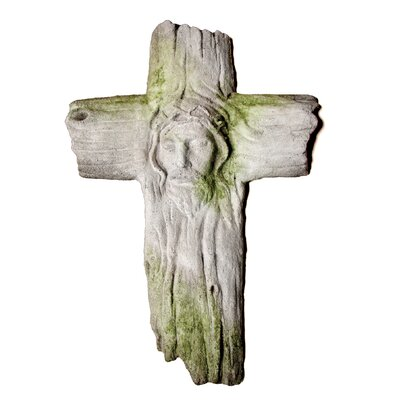 OrlandiStatuary Religious Christ's Face on Wooden Cross ...