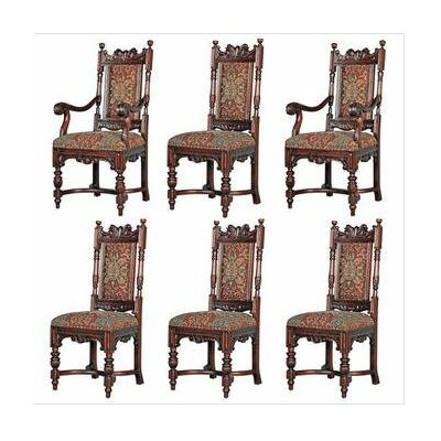 Design Toscano 6 Piece Grand Classic Edwardian Chair Set