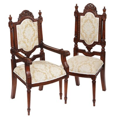 Design Toscano Salon des Rosiers 2 Arm Chairs and 4 Side Chair Set