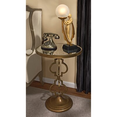 Design Toscano Film Noir Art Deco Mirrored End Table