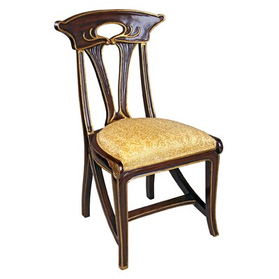 Design Toscano Majorelle Golden Art Nouveau Side Chair