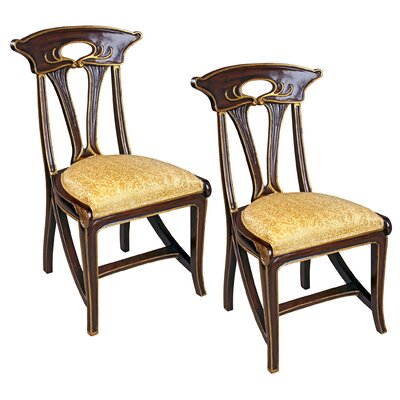 Design Toscano Majorelle Golden Art Nouveau Side Chair (Set of 2)