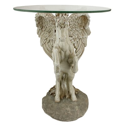 Design Toscano Mystical Winged Unicorn End Table