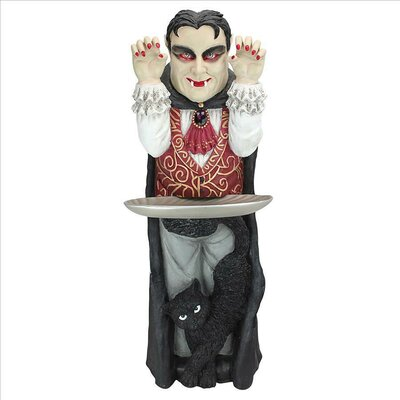 Design Toscano Count Dracula Vampire Butler End Table
