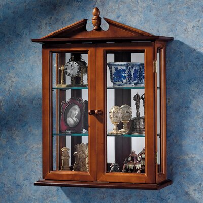 Design Toscano Amesbury Manor Wall-Mounted Curio Cabinet