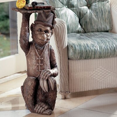 Design Toscano Moroccan Monkey Butler Sculptural End Table Image