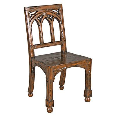 Design Toscano Gothic Revival Rectory Side Chair