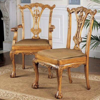 Design Toscano English Chippendale Dining Chair