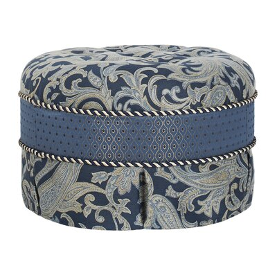 Jennifer Taylor Hallie Decorative Round Ottoman