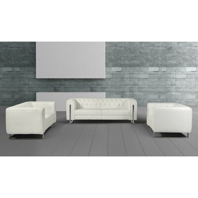 Wade Logan Alsatia Modern Leatherette Living Room Set