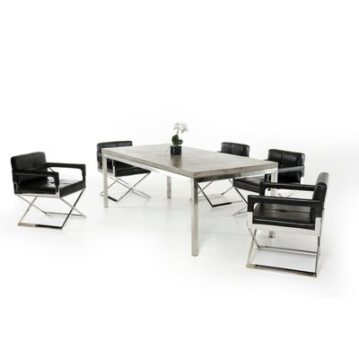 Wade Logan Patterson Modern Concrete Dining Table