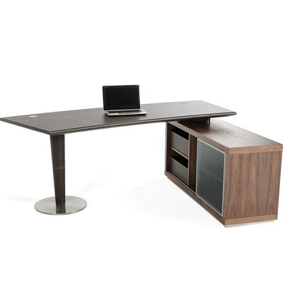 Wade Logan Belafonte Computer Desk with Side Storage Cabinet